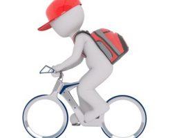 自転車とバッグ