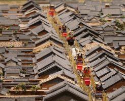 江戸時代の祭りのジオラマ