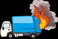 燃えるゴミ収集車