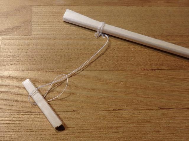割り箸鉄砲の的を作る