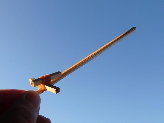 割り箸鉄砲と輪ゴム