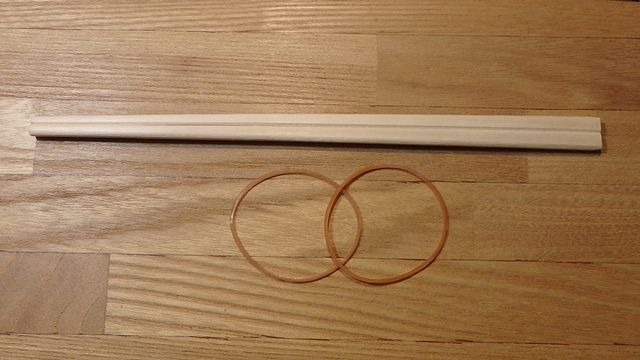 割り箸鉄砲の材料