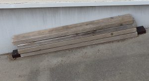 シロアリがでた木材